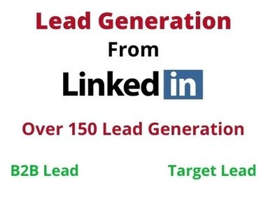 Hello,  Do you need B2B lead generation? Do you want to more targeted audience in your business? Do you want to generate more sales in your business products? Do you want more sales in your business services?  I will provide you targeted lead generation as per your requirements.   Leads Format includes:  First Name Last Name E-mail Address Title(designation) Company Name Company Website Industry Type LinkedIn Profile etc.  Why choose:  100% verified and live lead 100% quality assured On time delivery Provide Proof Sheet Any type of business and any location No error, No bounce