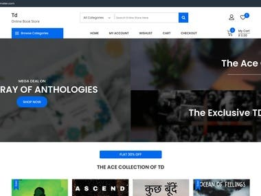 Bookselling website for TrueDreamster. This website is on WordPress, Woocomerce, and used Razorpay API's for Payment Verification and implemented out-server storage to store images.  Website Link: https://books.truedreamster.com/