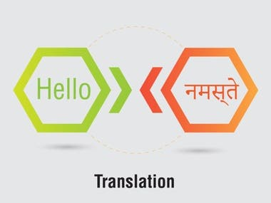 Eng to Hindi translation or vice versa