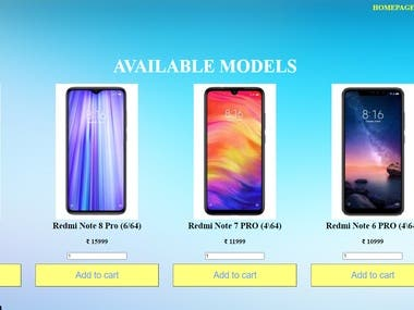 This sample is the first iteration of the development process. It was built and deployed within a day. It is a website which dynamically displays multi-brand mobile phones available for sale and saves order details in database.