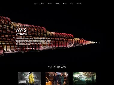 Official Website of AWS Studios, Which is based in UAE.