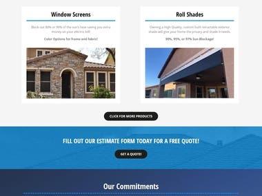 WordPress Website for screen company.