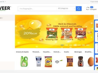 Ganveer is a multi vendor E commerce Grocery site.