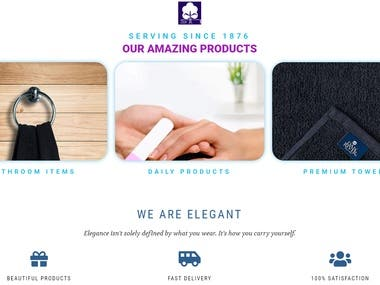 Fully working Ecommerce website for fabrics made using wordpress, woocommerce and elementor
