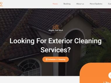 Website for cleaning company (Heights soft wash) made using wordpress