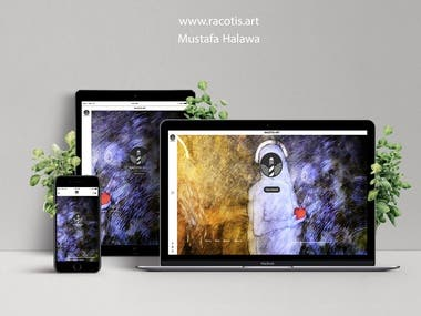 Racotis Art gallery website.