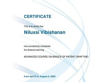 WIPO Distance Learning Course on Patent Drafting