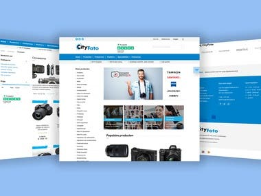 City photo is magento based e-commerce site.