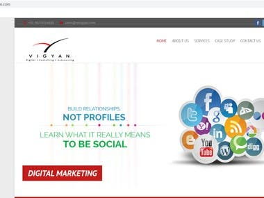 Website Development, Hosting and Maintenace of Mvigyan website.