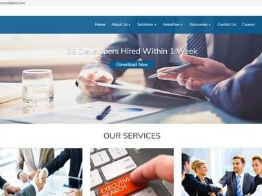 Development of Website, hosting, and maintenance