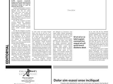 These were some of the design studies I made when we were creating the template for our university's weekly publication. These are plays on a modern tabloid concept, where there are glimpses of the most important stories in an issue. Inside the newspaper, it is simple and clean, with a versatile 5x5 grid that can accommodate the rigid news pages, graphics-heavy features pages, photo essays, and infographics.
