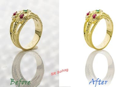 Enhancement face with high end retouch using Photoshop.