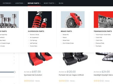 This is the shopping site for car service