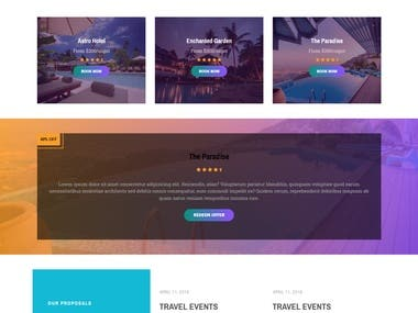 A beautiful website for travel agency