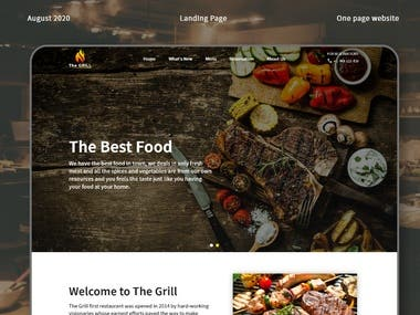 I complete the UI of this one pager website for a food resturant. The clients wants a one page website design for his BBQ resturant. The requirements of the clients is he want a website with the minimal look.