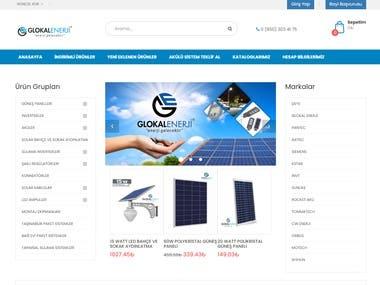 shop.glokalenerji.com is customizable e-commerce software.