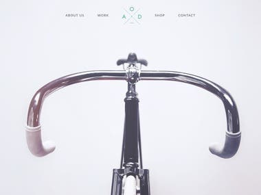 My client was looking for someone to convert a PSD file to HTML for his bicycle website.