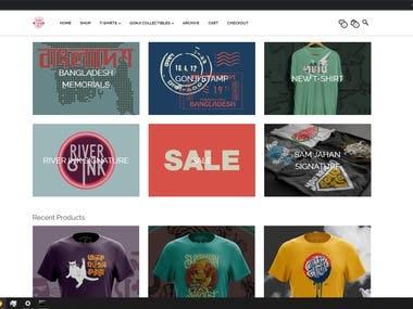 I website I designed for an E-commerce platform .