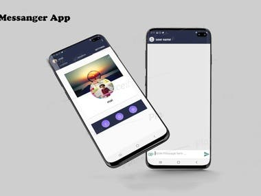 Messenger App like whatsApp , the user chat with Online  Friends  and setting screen to change his profile and cover photo   I used Firebase , Material Design and circle image , Crop image Libraries