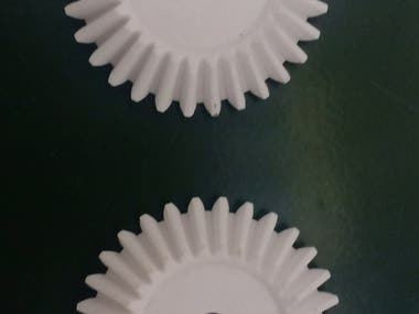 i have designed a simple gear and 3d printed also i had worked and opens sourced many 3d models at thingverse