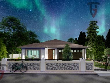 Here some 3d highly photorealistic rendered images of exterior