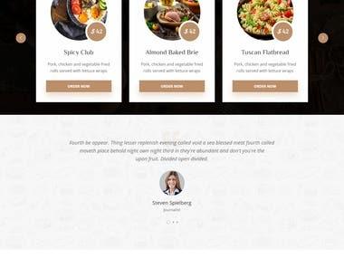 Complete Wordpress website