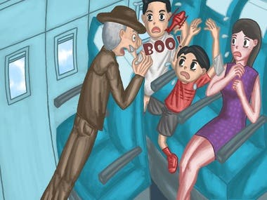 Children book illustration using adobe photoshop