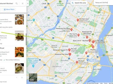 I have worked for Restaurant I AM Pho ( Montreal Canada) and got first page ranking on google maps with in 21 days.