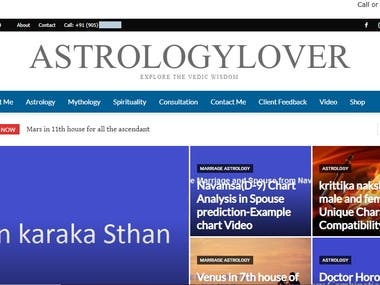 A complete Blog Website about Astrology.