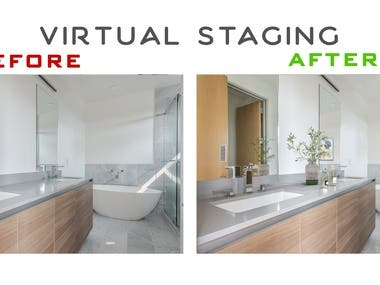 Virtual Staging  before and after