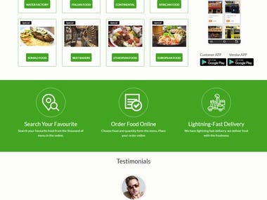 Full multi restaurant platform website & Apps made by mohit upadhyay.