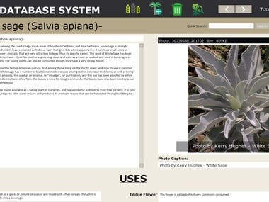 This database is built in Filemaker pro to keep record of almost 300 hundred thousands of plant records.