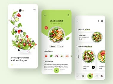 This is a Chef application for Chefs who want to cook own food and deliver to their customers daily, It can have subscription order with daily menu and scheduling.