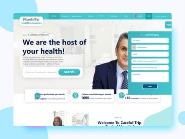 International and multilingual project of health tourists for medical services in countries and transfer of patients to relevant medical centers Introducing different hospitals and doctors with the possibility of sending requests and booking treatment packages And request registration by patients With technology Node.js Mongodb Vue.js React.js Flutter Express