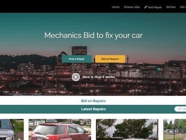This is mechanics site developed using CodeIgniter.