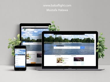 www.babaflight.com Flights & Hotels booking website.