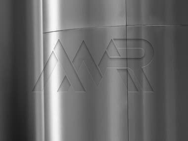 Logo design for AMR Metal Roofing with an adjusted all black/white variation