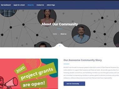 This is community platform which users can apply grant application and get paid from platform.