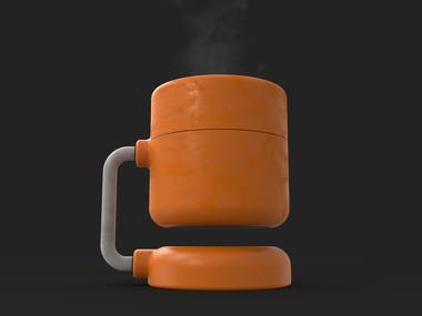 This was a personal project trying to mimic the design of a certain coffee machine from Braun. The machine in question is the iconic KF20 by Florian Seiffert, built in Germany in 1972. After sketching my basic idea, I modelled this in Fusion 360 and rendered in Keyshot.