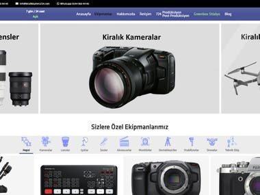 This is rental electronic items shop. There are varios options to control the website from admin panel.