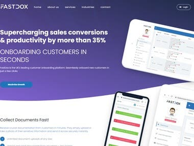 FastDox is the UK's leading customer onboarding platform. Seamlessly onboard new customers in just a few clicks. Maximise Growth. Header Tablet 1.