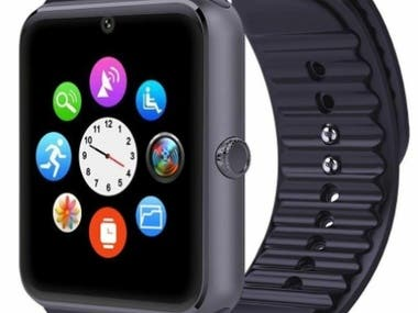 - Six layers PCB design - Touch screen - Fingerprint system - Camera - Voice record - Rechargeable battery - Call and message - Changeable clock