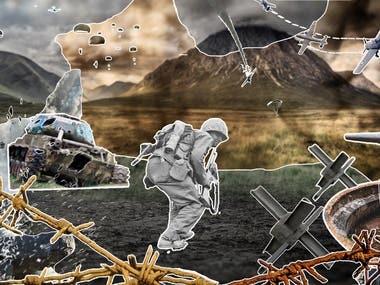 A wallpaper based on World War theme..