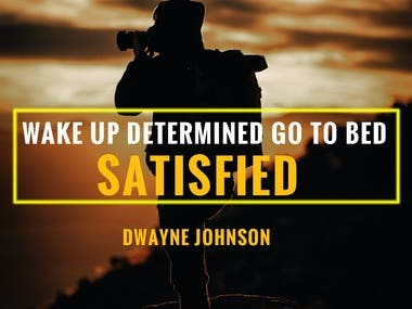 Motivational quotes post design