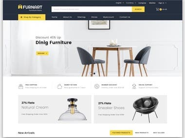 This is a fully functional E-Commerce Website selling Furniture with payment gateway.  I built this website for a local client in my city and this was the best project I have ever worked on.