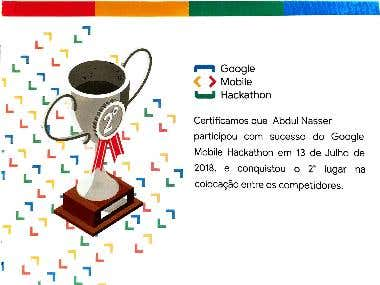 I have participated in the Google Hackathon when I and my team gets second place :)