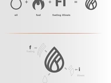 "A presentation of ""The Illinois - Fuel and Retail Assosiation"" logo design"
