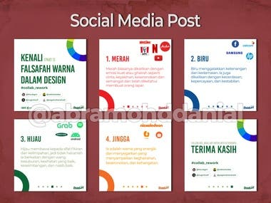 These are some of my previous work while managing social media platform (Instagram and Facebook) for the past 3 years