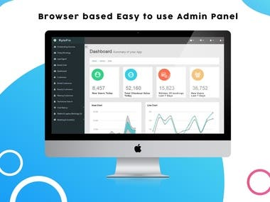 Brower based easy to use Admin Panel