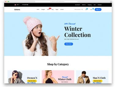 This is eCommerce website built for my client.